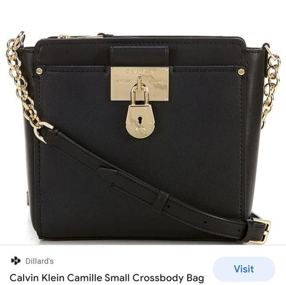 Calvin Klein Camille Leather Crossbody Bag